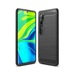 Mi Note 10 / Mi Note 10 Pro Mobilskal - Kolfiber design - Svart