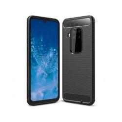 Motorola One Zoom Mobilskal - Kolfiber design - Svart