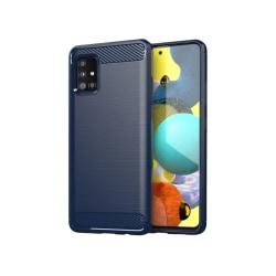 Samsung Galaxy A31 • Mobilskal • Kolfiber design • Blå