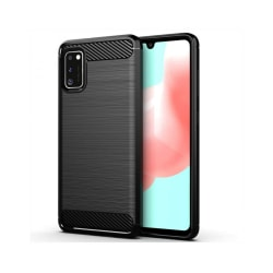 Samsung Galaxy A41 • Mobilskal • Kolfiber design • Svart