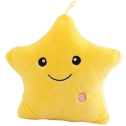 Kudde stjärnor Fyllda  Glödande Led gul