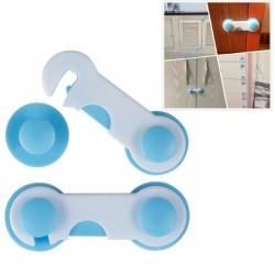 2st Dörrspärr för Barn - Enkel montering blå 10 x 3,7 cm