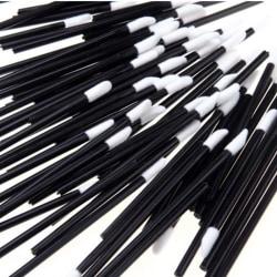 50st Engångs läppborstar läppglans svart ca 9 cm