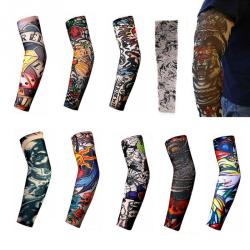 4st Tatuering Sleeve Arm Fake Strumpa olika modeller 47 cm