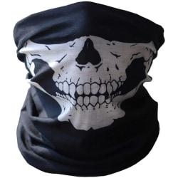 Döskallemask sjal halsduk för backen bandana svart 47 x 23 cm