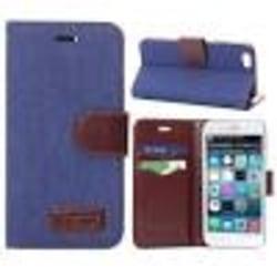 iPhone 6/6S Multiplånbok l 2 fack l Jeans l Blå blå
