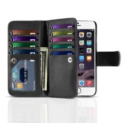 iPhone 7 & 8 Multi Plånboksfodral med 9 fack l SVART svart