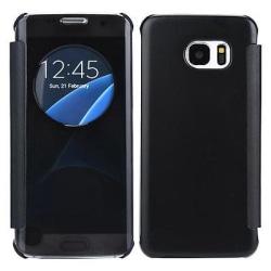 Samsung S7 Edge Flip fodral View Cover Svart  svart