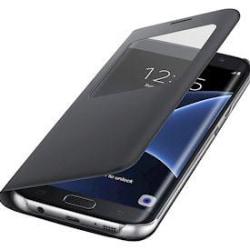 Samsung S7 Edge Flip View läderfodral l Svart l svart