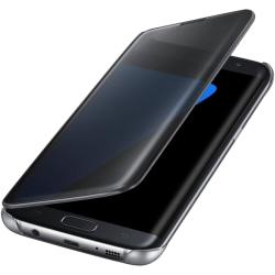 Samsung S9 Flip Fodral View Cover - Svart svart