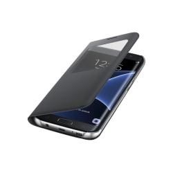 Samsung s10 Flip View läderfodral i Svart svart