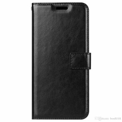 Samsung S8 Läderfodral l Plånboksfodral l SVART l Kreditkort svart