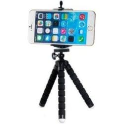 Tripod stativ - Flexibelt med skumskydd - Mobilhållare / Kamera svart 150 x 35 x 35 mm