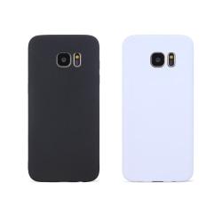 2-PACK - Galaxy S7 Edge Skal Svart & Vitt skal