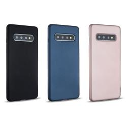 Galaxy S10 Plus - Hårdplast skal - Mycket tunt & slitstarkt Blå
