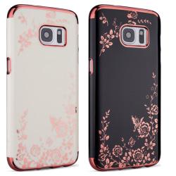 Galaxy S7 - Skal Svart skal med rosédetaljer