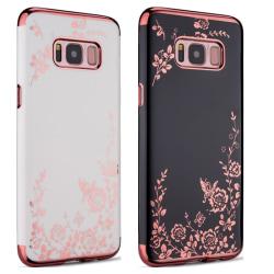 Galaxy S8 - Skal Svart skal med rosédetaljer