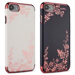 iPhone 8 - Skal Svart skal med rosédetaljer