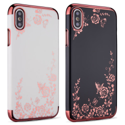 iPhone X - Skal Svart skal med rosédetaljer