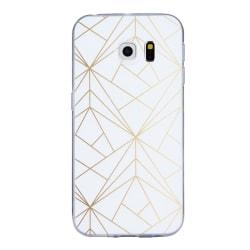 Samsung Galaxy S6 - Skal White 8. Golden laser
