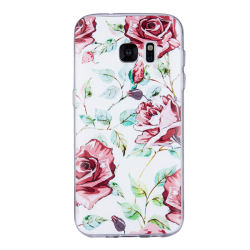Samsung Galaxy S7 Edge - Skal 10. White rose