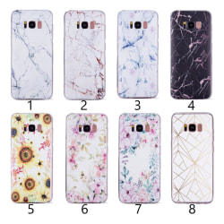 Samsung Galaxy S8 Plus - Skal 2. White/gold marble