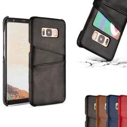 Dual Card Case - Galaxy S8 Plus Brun