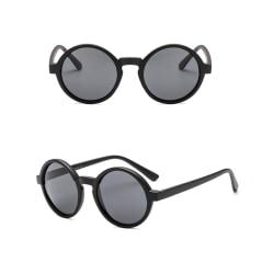 Solglasögon Runda Retro - Premium Kvalitet CE  Svart