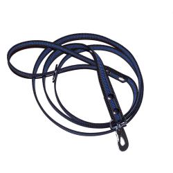 Antiglidkoppel 20 mm x 200 cm, svart/blå med karbinhake