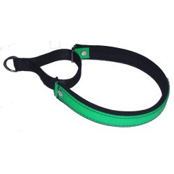 Fodrat halvstryp halsband av biothane, limegrön 50 cm