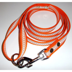 K9-Sport Super-Grip koppel med handtag, 20 mm x 200 cm, Orange & Orange