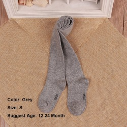 0-6Years Tights Pantyhose Cotton GREY 12-24 MONTH