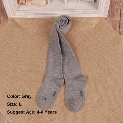0-6Years Tights Pantyhose Cotton GREY 4-6 YEARS