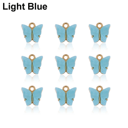 10PCS Butterfly Pendant Necklace Earring Crafting Jewellery