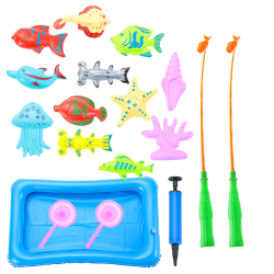 18pcs/set Magnetic Fish Educational Toys Shower Toy Bath Game