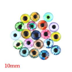 20Pcs 10MM/16MM/20MM Eyeballs Glass Dolls Eyes DIY Crafts 12MM