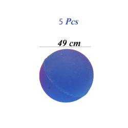 5Pcs/lot Random Color Bouncing Ball Elastic Rubber Toy Junping 49mm