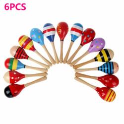 6/12Pcs Baby Toy Musical Maraca Rattles 6PCS