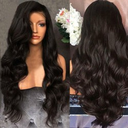 70cm Woman Wig Curly Wavy Wig Synthetic Hair  Front Hair