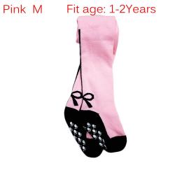 Baby Anti-slip Tight Pants Kids Pantyhose Girls Stockings PINK M
