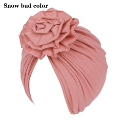 Baby Girl Hat Infant Turban Headwraps SNOW BUD COLOR Snow bud color