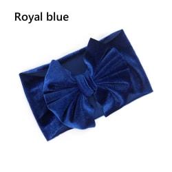Baby Girl Headbands Big Bows Hair BAND ROYAL BLUE