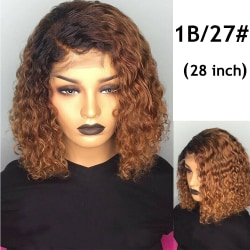 Bob Wig Lace Front Short Curly Hair Wig 28 INCH 1B/27