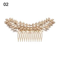 Brudhårkam Metal Leaf Wedding Accessories 02