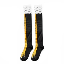 Chicken Leg Socks Knee-High Stocking BLACK&YELLOW 50CM