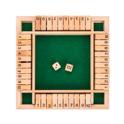 Dice Board Game Shut The Box STYLE 2-GREEN