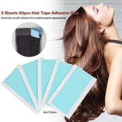 Dubbelsidig peruktejp hårförlängningsverktyg peruk levererar 5ST
