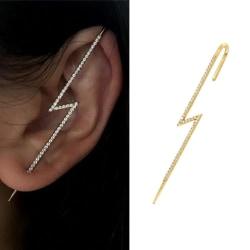 Ear Wrap Crawler Hook Earrings Needles Around The Auricle Clip