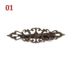 Fjäderhårnål Metallhårklämma ihålig hårspänne 01