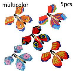 Flying Butterfly Flying Card Magic Props MULTICOLOR 5PCS multicolor